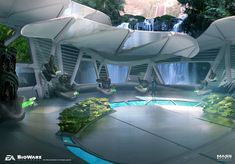 BioWare Concept Artist Ben Lo has posted some of the great concept artwork he created for Mass Effect: Andromeda. Ben has also worked on Bioshock Infinite Spaceship Interior, Futuristic Interior, Spaceship Design, Futuristic City, Futuristic Technology, Futuristic Architecture, Architecture Design, Environment Concept Art, Environment Design