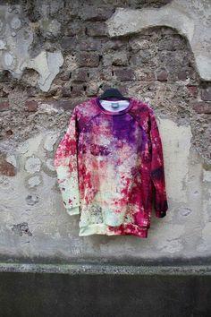 Sweatshirts - Purple Pink Grunge Sweater - ein Designerstück von LikeLife bei DaWanda
