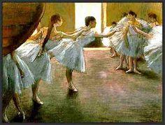 Danseuses par les grands peintres (10) Edgar Degas (1834-1917) Danseuses en répétition Répétition du ballet Danseuse assise Danseuse au bouquet Danseuse en jaune Fin d'arabesque