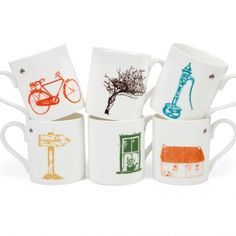 Set Of Six Irish Mugs Gift Box by Sealed with Irish Love, the perfect gift for Explore more unique gifts in our curated marketplace. Creative Gifts, Unique Gifts, Irish Coffee Mugs, Mug Printing, Love Stickers, Green Ribbon, China Mugs, White Gift Boxes, Bone China