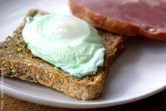 Recipes | Disney Family  ~ St. PaTriCkS Day ~  Green Eggs and Ham Ham Breakfast, Breakfast Sandwiches, My Favorite Food, Favorite Recipes, Green Eggs And Ham, Green Food Coloring, Irish Recipes, Cooking With Kids, Creative Food