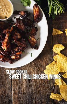 Slow Cooker Sweet Chili Chicken Wings - New Ideas Slow Cooker Huhn, Crock Pot Slow Cooker, Slow Cooker Chicken, Slow Cooker Recipes, Crockpot Recipes, Cooking Recipes, Slow Cooking, Sweet And Spicy Chicken, Best Chicken Recipes