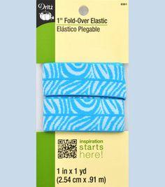 1-inch Foldover Elastic Zebra Aqua/white- 1Yd $2.99 Zebra Party, Sewing, Aqua, Fabrics, Scrappy Quilts, Tejidos, Dressmaking, Water, Couture