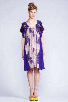 Akira Isogawa Spiral Shibori Sleeved Dress