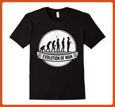 Mens Funny Cooking Shirt: Funny Chef Evolution Cook t shirt XL Black - Funny shirts (*Partner-Link)