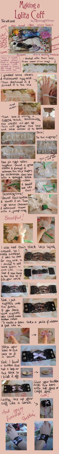 Lolita Cuff Tutorial by LightningMcTurner on deviantART