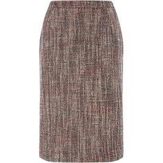 Eastex Tweed Pencil Skirt ($120) ❤ liked on Polyvore featuring skirts, neutral, women, brown skirt, tweed skirt, tweed pencil skirt, pencil skirt and brown pencil skirt