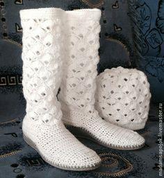 Сапожки вязаные ( ручная работа) - Вязаные сапоги,вязаная обувь,обувь ручной работы