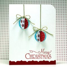 Merry Christmas 3-D Ornaments - Scrapbook.com
