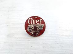 Vintage The Chief Santa Fe Train Pin - Tie Tack by ElkHugsVintage on Etsy