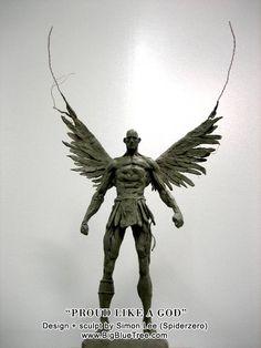 Simon Lee Polymer Clay Sculptures, Sculpture Clay, Creature Concept Art, Creature Design, Traditional Sculptures, 3d Figures, Ange Demon, Art Carved, Outdoor Sculpture