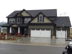 Residential White Carriage Garage Doors With Top Windows Single And Double Dream Home In