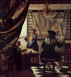 vermeer - The Art of Painting. 1665-1667. Oil on canvas. 120 x 100 cm. Kunsthistorisches Museum, Vienna, Austria