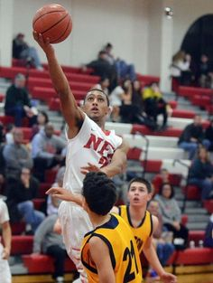 """NFA boys basketball falls to Weston in season opener - """"A lot of our guys, that was their first-ever varsity game. It was opening night, a lot of pressure, a lot of nerves and then, all of a sudden, a tricky zone to try and solve. That's a lot to ask of a young team,"""" NFA coach Chris Guisti said. Read more: http://www.norwichbulletin.com/article/20141217/SPORTS/141219603 #CTSports #HSSports #NFA #Boys #Basketball"""