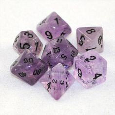 Dice carved out of my birthstone... sweet