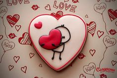 my heart for my wonderful wife - … my heart for my wonderful wife - Valentine's Day Sugar Cookies, Fancy Cookies, Heart Cookies, Iced Cookies, Cute Cookies, Royal Icing Cookies, Cookies Et Biscuits, Valentines Day Cakes, My Funny Valentine