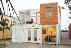 Container House - Shipping Container Homes Book Series – Book 145 - Shipping Container Home Plans… - Who Else Wants Simple Step-By-Step Plans To Design And Build A Container Home From Scratch? Cheap Shipping Containers, Prefab Shipping Container Homes, Shipping Container Buildings, Shipping Container Home Designs, Container Design, Prefab Homes, Container Company, Tiny Homes, Container Architecture