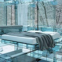 santambrogio, modern architecture, Ennio Arosio, glass house, Glass House concept, futuristic architecture