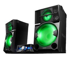 "Sony 4800W (RMS) Wireless Music System (HCDSHAKE99); 4-way speakers with 18"" subwoofers and shiny LED lights."