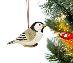 Chickadee Wood Sculpted Ornament - American Expedition