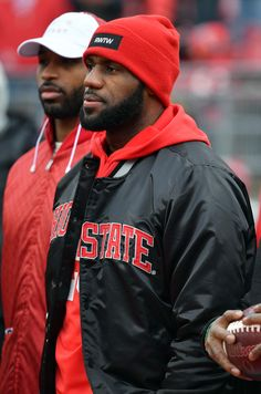 Lebron James of the Cleveland Cavaliers is seen on the field prior to the game between the Michigan Wolverines and Ohio State Buckeyes at Ohio Stadium on November 26, 2016 in Columbus, Ohio. - Michigan v Ohio State
