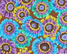 Kaffe Collective - Painted Daisies - Chocolate Brown