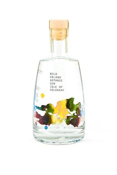 WildIsland – Botanic Gin From Isle of Colonsay Food Packaging Design, Bottle Packaging, Coffee Packaging, Alcohol Bottles, Gin Bottles, Botanicals For Gin, All You Need Is, Red Wine Benefits, Scottish Gin