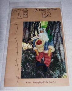 Christmas PATTERN Primitive Folk Art Santa by JunqueInMyTrunks