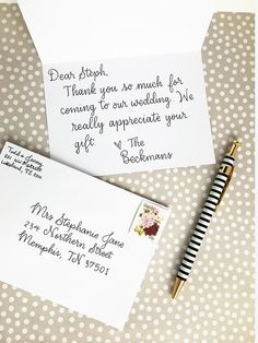 Handwriting service  Note have your personal message written