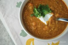 Slow-Cooker Red Lentil, Curry, and Carrot Stew - use regular coconut milk (not light) and leave off the optional yogurt for Phase 3.