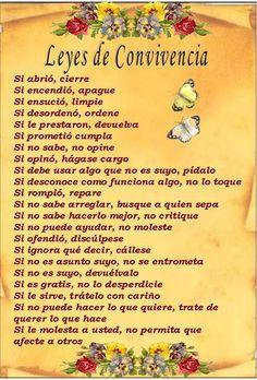 marisel@reflexiones.com: LEYES DE CONVIVENCIA