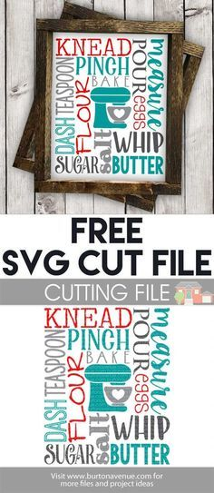 Free SVG files for Cricut & Silhouette | Kitchen SVG Files
