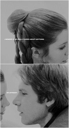 Han Solo and Leia tumblr #starwars