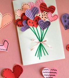 Heart Baloom For Valentine Easy And Cute Homemade Cards Teacher