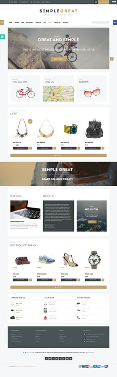 SimpleGreat - Premium WordPress WooCommerce theme by mona lisa, via Behance