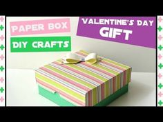 How to make an Easy Paper Box - DIY Paper crafts for teenagers - Handmad...