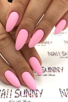 A manicure is a cosmetic elegance therapy for the finger nails and hands. A manicure could deal with just the hands, just the nails, or Pastel Pink Nails, Pink Nail Colors, Hot Pink Nails, Light Pink Nails, Pink Manicure, Pink Nail Polish, Dark Nails, Matte Nails, Matte Pink