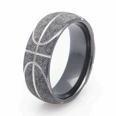 Basketball Wedding Ring, Sports Wedding Rings   Titanium Buzz.com
