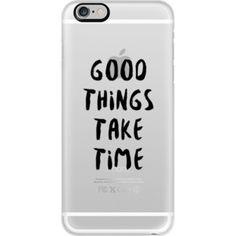 iPhone 6 Plus/6/5/5s/5c Case - Good Things Take Time (Black)