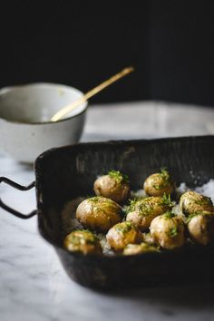 salt roasted fingerling potatoes with fennel, lemon and olive oil