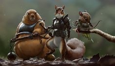 So this is what the creatures of Brian Jacques Redwall series would really look like dressed for battle :)