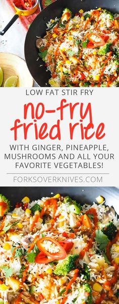 No-Fry Fried Rice - Plant-Based Vegan Recipe