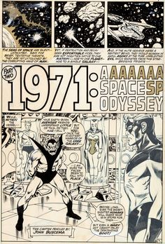 """Original Comic Art:Panel Pages, John Buscema and Tom Palmer Avengers #94 """"Part Two: 1971: ASpace Odyssey"""" Page 7 Original Art (Marvel, 1971).... Image #1"""