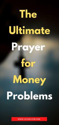 Catholic Prayer Book, Money Prayer, Novena Prayers, Money Problems, Power Of Prayer, Church Ideas, Books, Libros, Book