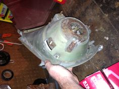 Headlamp assembly back before restore