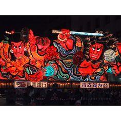 """nighttime festival in Aomori """"Nebuta matsuri"""""""