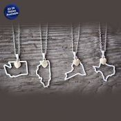 State Shape Necklace - All 50 states available