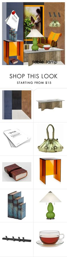 """""""Table Lamp"""" by din-sesantadue ❤ liked on Polyvore featuring interior, interiors, interior design, home, home decor, interior decorating, Ren-Wil, Studio 36, Versace and Kartell"""