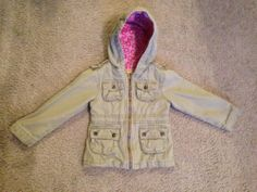 Old Navy Clothing Girl Jacket Outwear Hood Olive Green 3T