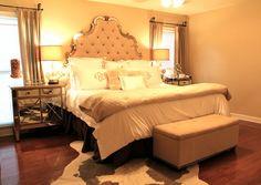 love this bedroom (minus the monograms)